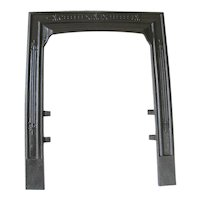 Antique Victorian Cast Iron Rib Sparkle Star Fire Place Fireplace Door Frame Surround