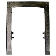 Arts Craft Cast Iron Mantle Style Hammered Fireplace Door Frame Surround
