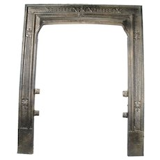 Antique Victorian Cast Iron Bronze Sparkle 18 40 Fireplace Door Frame Surround