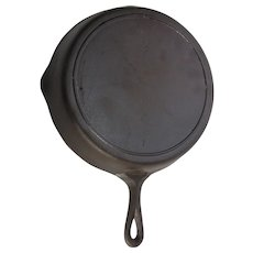 "Vintage Lodge # 9 Fryer Cast Iron 11 1/4"" Chicken Fryer Skillet Pan Heat Ring Bottom"