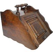 Antique Art Crafts Metal Lined Walnut Wood Coal Ash Fireplace Fire Scuttle Box