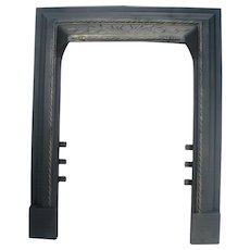 Antique Ornate Rope Victorian Cast Iron Fireplace Door Frame Mantle Surround