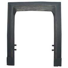 Antique Twisted Rope Victorian Cast Iron Fireplace Door Frame Mantle Surround Lg