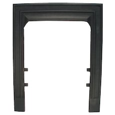 Art Deco Mission Design Cast Iron Ribbed Fireplace Door Frame Surround