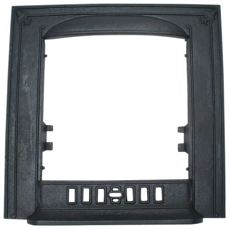 Cahill Cast Iron Fleur De Lis Door Frame Surround Fire Place Fender ...