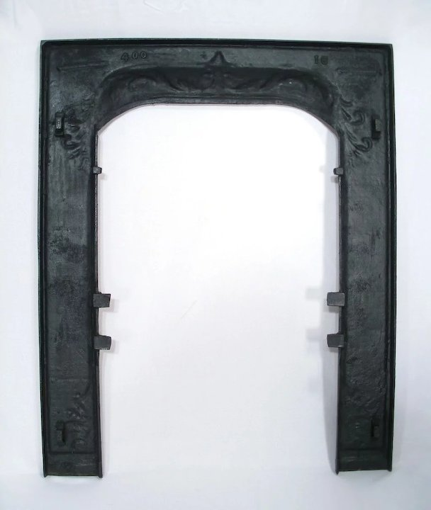 Antique Ornate Arts Craft Cast Iron Fleur De Lis Door Frame Surround ...