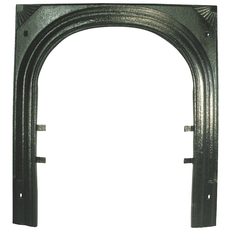 Vintage Art Deco Fan Starburst Cast Iron Fire Place Door Frame ...