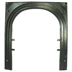 Vintage Art Deco Fan Starburst Cast Iron Fire Place Door Frame Surround Mantle