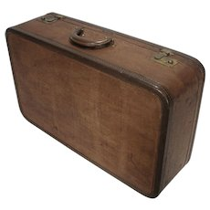Vintage Wings United Brass & Tweed Style Travel Luggage Suitcase