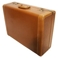Vintage Rauch bach Leather & Brass Travel Luggage Suitcase