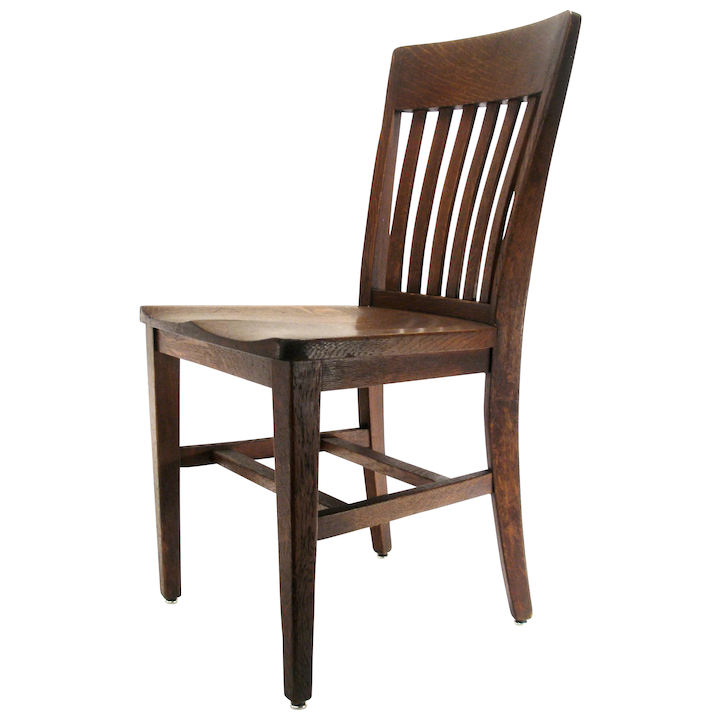 Antique Mission Arts Crafts B L Marble Chair Co Solid Oak Wood Kitchen Desk Lawyer Hall Office Chair