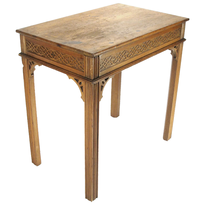Side Table Chinees.Antique Kittinger Chinese Chippendale Style Tea Wine Lamp Hall Side Table