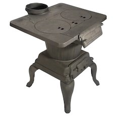 Rare Antique Ace Glasgow Allison Cast Iron Wood Pellet Footed Stove Laundry Heater