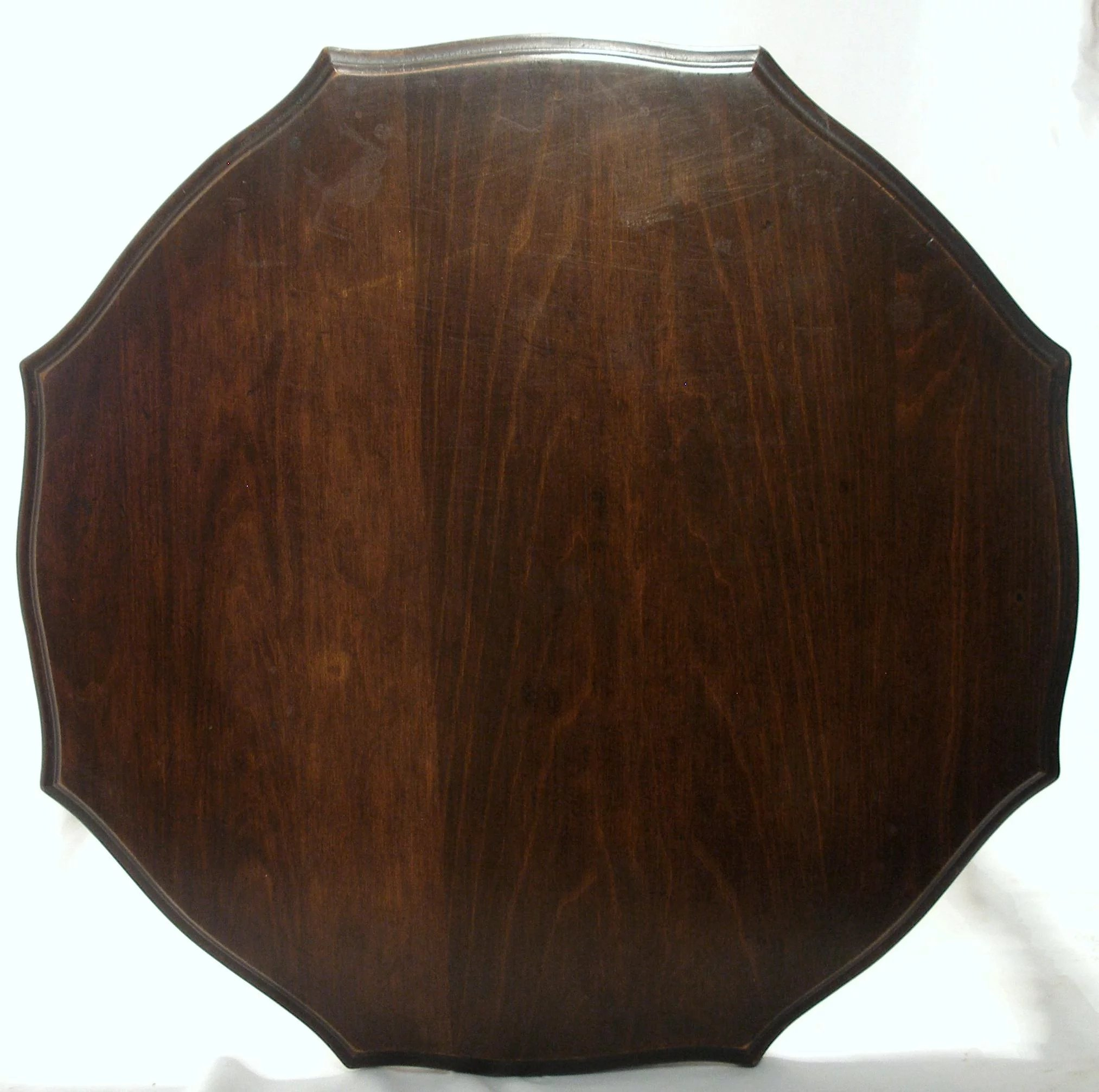 Antique Federal Style Stacked Spool Walnut Wood Side Tea