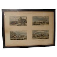 Antique Fores C.C. Henderson Sporting Traps Horse Wagon Scraps Print Plate 13