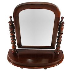 Antique Mahogany Arts Crafts Adjustable Mahogany Frame Shaving Cabinet Top Mirror