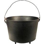 Antique Cast Iron Kettle Cauldron Cowboy Camp Fire Reenactment Hanging Rare Pot