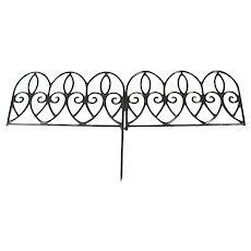 Antique Cast Iron Garden Interlocking Art Fence French Country Style Decoration Set Of 7 Fence Pieces