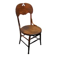 Antique Mission Arts & Crafts Era Bent Wood Solid Oak Side Parlor Dining Chair