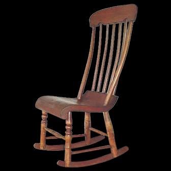 Antique Mission Little Boston Rocker Baby Nursing Rocking Chair