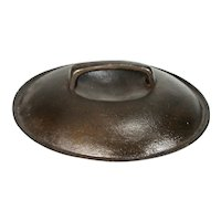 Vintage Unmarked Collectible Cast Iron Frying Pan Skillet / Fryer Sauce Pan Lid