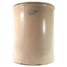 Ransbottom Bros Pottery Co 8 Gallon Fermenting Stoneware Crock
