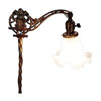 Vintage Barley Twist Ornate Enameled Bridge Floor Lamp