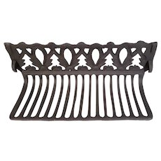 Antique Art Nouveau Era Cast Iron Fire Place Grate For Surround