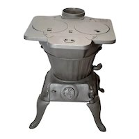 Rex 84-A Cast Iron Wood Burning Cook Stove / Laundry Heater With A Hot Water Heating Coil