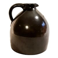Antique Stoneware Pottery 1 Gal Hart Bros Prohibition Albany Slip Glaze Whiskey Jug