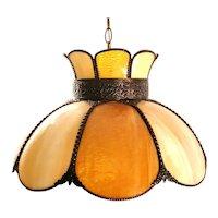 Meyda Tiffany Annabelle Pendant Art Slag Bent Glass Hanging Lamp Light Chandelier