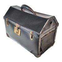 Antique Animal Pet Travel Carrier Box Carry On Bag  Movie Prop