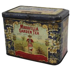 Early 1900's 'Maravilla Garden Tea'  Litho Advertising Tin
