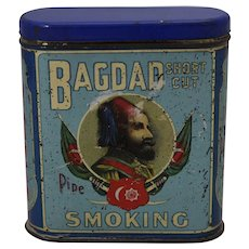 1838-1916 'Bagdad, Short Cut, Pipe Smoking Tobacco' Litho Tin