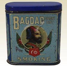 1838-1916 'Bagdad, Short Cut, Pipe Smoking Tobacco' Litho Tin