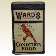 1930's Indiana 'Ward's Condition Food' Litho Tin