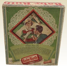 1930'S 'Baby Ruth' 24 Count Candy Bar Box