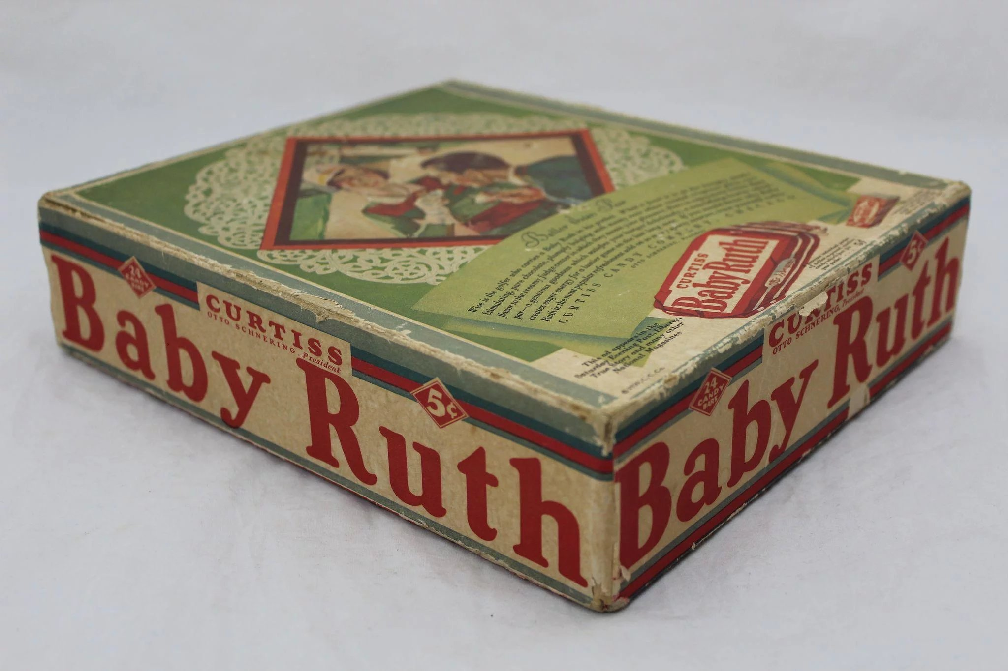 1930'S 'Baby Ruth' 24 Count Candy Bar Box : The Curious ...