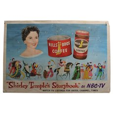 "Rare 1958 ""Shirley Temple Storybook"" NBC-TV Paper Lithograph Poster"