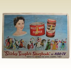 """Rare 1958 """"Shirley Temple Storybook"""" NBC-TV Paper Lithograph Poster"""