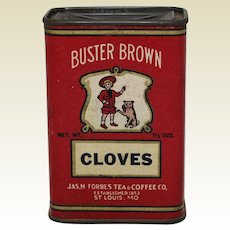Early 1900's 'Buster Brown' Cloves Spice Container