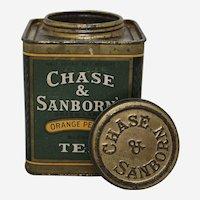 1940'S, 50'S 'Chase & Sanborn's' Orange Pekoe Tea Tin