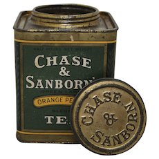 1940'S, 50'S 'Chase & Sanborn's' Orange Pekoe Tea Tin
