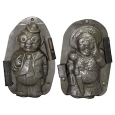 1921-1950 'Vormenfabrick'  Grandma & Grandpa (Pair) Chocolate Molds