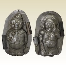 1921-1950 'Vormenfabrick'  Grandma & Grandpa (Pair) Chocolate Molds
