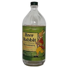 1940's 'Brer Rabbit New Orleans Molasses' 1 Quart Bottle