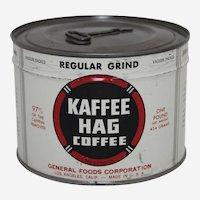 1940's Unopened 'Kaffee Hag'  Key Wind Litho Coffee Tin
