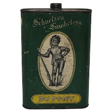 1908-1923 Du Pont 'Schuetzen' Smokeless Gunpowder Tin