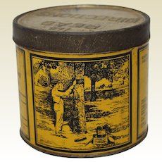 1920'S, 30'S 'Tree Tanglefoot' 1 lb Litho Tin