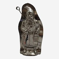 "Circa: 1935-1960 German Laurosch 8"" 'Father Christmas' Holding Lantern Chocolate Mold"